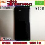 【値下げ】au E10K ブラック ランクB ※お使い頂くには、別途auショップにて[ICカードロッククリア]が必要です