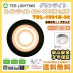LED ダウンライト コインライト 50Φ ブラック 3000K 230lm 3.8W テスライティング TDL-1901B-30