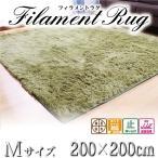 フィラメントシャギーラグ 洗える 200×200cm 滑り止め付 カーペット ホットカーペット対応 絨毯 リビング ラグ