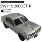 【CLICK CAR MOUSE】クリックカーマウス ハコスカ 2000GT-R シルバー 光学式ワイヤレスマウス 電池式【あすつく対応】