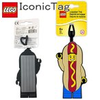 ゆうパケット4個迄 LEGO レゴ アイコニック ホットドッグタグ シリコン製IDタグ ホットドッグマン あすつく対応