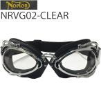 Yahoo!フリーライン ヤフー店NORTON ノートン バイク用ゴーグル NRVG02 ブラック/クリア ビンテージ・クラシックスタイル【あすつく対応】