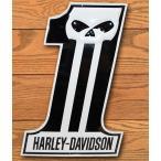 HARLEY DAVIDSON スカルNO1 ハーレーダビッドソン ブリキ看板
