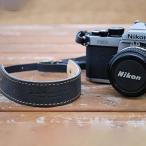 ショッピングカメラ ストラップ ロベルのオイルレザーカメラストラップアンティークグレー カメラストラップ ROBERU