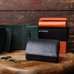 ファブリック 財布 三つ折り財布 サイフ おしゃれ 本革 TRI-FOLD WALLET FABRIK ミニ財布 メンズ プレゼント