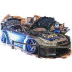 新品EML002F メイクアップ/アイドロン 1/18 LB★WORKS R35 GT-R GTウイングver. マットグレイメタリック SKY FORGED 20in. Wheel 限定50台