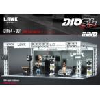 予約 DIO64-001 INNO イノモデル 1/64  LBWK オートサロン ジオラマ 997 LBWK Chrome、フィギュア3体付属 右ハンドル 数量限定