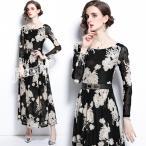 パーティードレス ロングドレス 結婚式 ドレス ワンピース 袖あり 二次会 ドレス  フォーマルドレス お呼ばれ ドレス 大きいサイズ 20代 30代 40代 50
