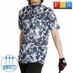 ゴルフウェア メンズ 半袖 ポロシャツ ハーフジップ 速乾 ドライ ストレッチ 迷彩 春 夏 コーディネート メガストレッチ ゆったり 28353