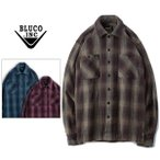 BLUCO WORK GARMENT/ブルコ HEAVY NEL SHIRTS -ombre check-/オンブレーチェックシャツ・3color