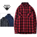 BLUCO WORK GARMENT/ブルコ HEAVY NEL SHIRTS -buffalo check/バッファローチェックシャツ・3color