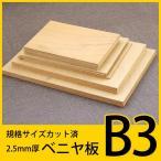 規格サイズ ベニヤ板 B3サイズ2枚組