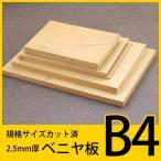 規格サイズ ベニヤ板 B4サイズ4枚組