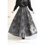 frenchpave 繊細な美しさ 煌めく刺繍の芸術的なロングスカート M~L対応 cawaii
