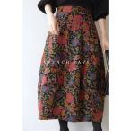 frenchpave ノスタルジックを身に纏う 花柄コクーンスカート cawaii
