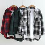 チェック柄 シャツ 長袖 羽織り ストライプ柄 ブラウス ベーシック コーディネート カッターシャツ シンプル UV 長袖 UV対策