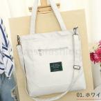 ショルダーバッグ トートバッグ ホワイト 2way 鞄 ショッピングバッグ エコ レディース キャンバス レッドイエロー ブラック