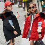 ダウンコート ダウンジャケット 子供コート 韓国風 中綿 ロングコート 子供服 女の子 男の子 中綿コート フード付き キッズ パンクスタイル