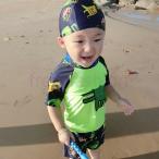 ベビー水着 トップス ハーフパンツ ショートパンツ 水泳帽 上下3点セットアップ 水着 子供 男の子 子ども 男児 みずぎ ボーイ スクール水着 キッズ 水泳