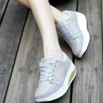 Yahoo!fresh fashionスニーカー 厚底 ダイエット 女性 キャンプ ウォーキング スポーツシューズ ランニング エアソール 歩行姿勢調整 矯正靴 疲れない レースアップシューズ