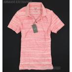 ショッピング円高還元 ARMANI EXCHANGEアルマーニエクスチェンジ 裾タグロゴボーダーポロシャツ178 赤レッド