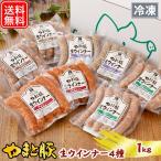 やまと豚 生ウインナー セット(全4種)たっぷり1Kg NS-H | [冷凍] 送料無料 バレンタイン チョコ以外 ギフト 食べ物 ウインナー ソーセージ 詰め合わせ 食品