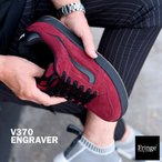 VANS バンズ ヴァンズ スニーカー V370 ENGRAVER BURGUNDY/BLACK
