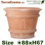 ショッピングプランター テラクレマ・FR1・XL (直径88cm×H67cm)(底穴あり)(陶器鉢/テラコッタ)(プランター/園芸/寄せ植え/ポット)