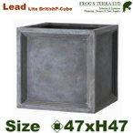 ショッピングプランター Lead Lite・LL ブリティッシュ・Pキューブ・M (ロ47cm×H47cm)(FRP/ファイバークレイ)(底穴あり/軽量プランター)