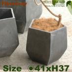 ペンタゴンポット・S・F9801(直径41cm×H37cm)(ファイバーグラス / ファイバークレイ)(植木鉢 / 鉢カバー)(底穴あり / 軽量プランター)