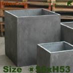 ショッピングプランター キューブプランター・M・F9827(ロ56cm×H53cm)(ファイバーグラス/ファイバークレイ)(植木鉢/鉢カバー)(底穴あり/軽量プランター)