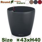 ショッピングプランター Round ラウンド 43 (直径43cm×H40cm)(底面潅水 ポリプロピレン本体 )(プランター/ポット)(観葉鉢/園芸/寄せ植え)