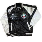 訳有 (廃盤) スヌーピー メルトン MA1 ジャケット 中綿 メンズ 刺繍 ワッペン ウール混 少し細身 黒 墨黒 / bia501-1