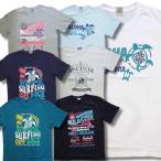 3L 4L アメカジ 半袖 Tシャツ メンズ 大きいサイズ サーフィン柄 亀サーフ柄 和柄 / bia615