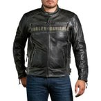 ハーレーダビッドソン Harley Davidson  メンズ レザー ジャケット  Harley-Davidson  Men's Passing Link Tripe Vent Leather Jacket