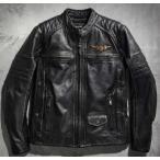 ハーレーダビッドソン メンズ レザー ジャケット  Harley-Davidson  Men's Triple Vent System Detonator Leather Jacket