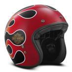 ハーレーダビッドソン Harley Davidson  ヘルメット  Retro Flame B01 3/4 Helmet グロスブラック
