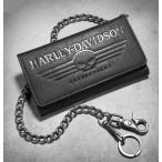 ショッピングハーレーダビッドソン ハーレーダビッドソン ウォレットチェーン  Harley Davidson  Men's Skull Tri-Fold Wallet