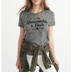 アバクロ レディース Tシャツ COZY LOGO GRAFHIC TEE ダークグレイ  Abercrombie&Fitch アバクロンビー&フィッチ