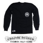 ショッピングCHROME クロムハーツ ロングスリーブ Tシャツ<br>Men Ls Crew C13-1AF (Black)<br>ロングスリーブTシャツ(ブラック)