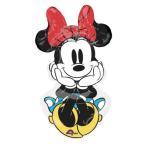 ミニーマウス ロックザドッツ 女の子 誕生日 バルーン ハッピーバースデー 風船 デコレーション サプライズ パーティ 赤ちゃん ぺたんこ発送