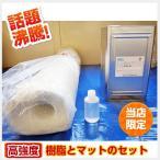 高強度 FRP20kgセット(樹脂・マット・硬化剤のセット)