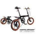 ショッピング自転車 DOPPELGANGER 104 blackbulletII 16インチ折りたたみ自転車