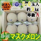 【送料無料】産地厳選 訳あり マスクメロン A等級 5〜6玉約9kg