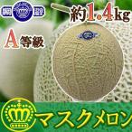 【訳あり】静岡県産A等級アローマメロン1玉約1.7kg【送料無料】