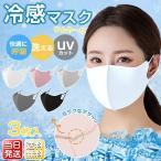 マスク 夏用 カラーマスク 3枚入 ひんやり 潤い 蒸れにくい 接触冷感 最大15%OFF 個包装 耳ひも調整 飛沫 ウイルス 予防 送料無料