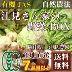 [クール便無料] 江見さん家の野菜BOX 自然農法 有機JAS (岡山県 江見農園) 産地直送