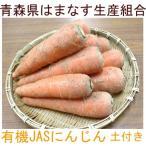 人参 土付き3kg(青森県 はまなす生産組合)有機JAS無農薬野菜・送料無料・産地直送