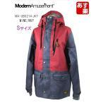 ModernAmusement(モダンアミューズメント)レディース女性用スノーボードウエアジャケット「MA-UB0214 JKT」ワイン/ネイビー