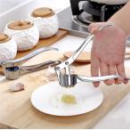 2点セットガーリックプレス 調理器具 キッチン用品 みじん切り器 ガーリッククラッシャーガーリックプレスクロムメッキ付き亜鉛合金 便利
